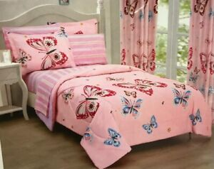 7pc full Comforter set Butterfly colorful girls flies sheet butterfly mixed hopd
