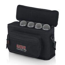 Gator Cases GM-4 4 Drop Mic Padded Bag Carry Handle Adjustable Shoulder Strap