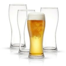 JoyJolt Callen 15.5 oz Beer Glasses Set of 4
