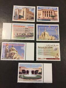 Lebanon 2003 MNH Stamp Set Museum Parliament  Palace Church Mosque
