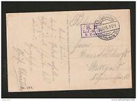 WWI-GERMANY-AUSTRIA-TRAVELED FELDPOST POSTCARD-S.B.-L.-J.124 - 1915.