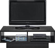 Black ash Wood HOME TV Stand Unit, Media Console Cabinet Table For Up To 32 Inch