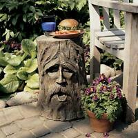"""The Odin Tree Stump 17½"""" Design Toscano Exclusive Hand Painted Sculptural Table"""
