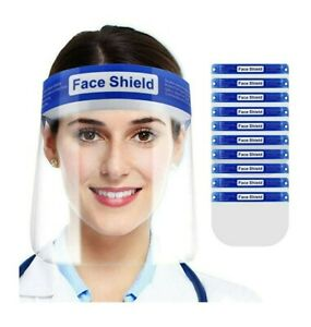 65 Face shields NEW with protective sticker