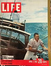 LIFE MAGAZINE Apr 7 1961 * Salt Water Anglers * Russian Space Race * Walt Disney