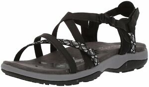Skechers Womens Reggae Fabric Open Toe Casual Sport Sandals, Black, Size 9.0 X0B