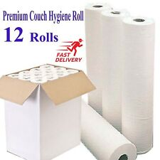 White 2 ply 50cm wide Couch Hygiene Rolls Medical Roll Bed perforated 12 rolls