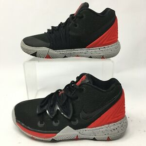 Nike Toddler 12C Kyrie 5 PS Bred Basketball Shoes Sneakers Black Red AQ2458-600
