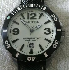 NAUTICA MEN'S BFD101 DIVER WATCH A13501G VERY GOOD CONDITION