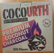 CocoUrth 100Pcs Natural Coconut Hookah Charcoal Coal Shisha Nara(MINI CUBES) 1kg