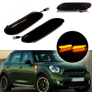 For 2011-2016 MINI Cooper R60 R61 LED Smoked Turn Signal Side Marker Lights