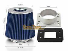 Mass Air Flow Sensor Intake Adapter + BLUE Filter For 89-95 4Runner /Pickup 2.4L