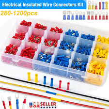 Assorted Insulated Electrical Wire Terminals Crimp Connectors Spade Kit Set Lot