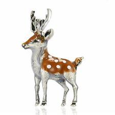 Christmas Elk Deer Animal Brooch Pin Retro Silver Women Xmas Costume Jewelry
