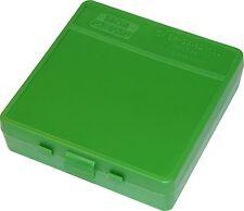 NEW MTM 100 Round Flip-Top 40/45/10MM Cal Ammo Box - Green