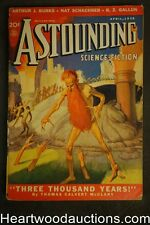 """Astounding"" April 1938 1st Lester Del Rey story; L. Sprague de Camp"