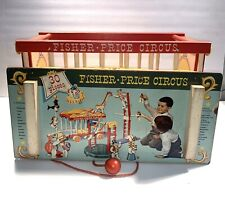Vintage 1960's Wooden Fisher Price Circus Wagon Train
