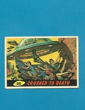 1962 MARS ATTACKS Nice Condition Alien Space War Card #20 Crushed To Death
