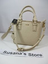 NWT bebe TOSSED LOGO CROSSBODY BAG Essential faux leather crossbody bag detailed