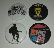 4 Billy Bragg button badges 25mm A New England Life's a Riot with Spy Vs Spy