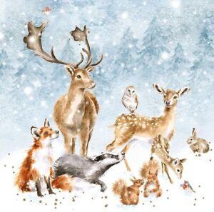 Wrendale Designs Winter Wonderland Christmas Cards - Set of 8 12cm Festive Cards