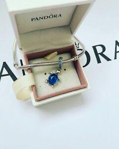 Pandora Silver Ocean Murano Glass Sea Turtle Charm (ALE S925)