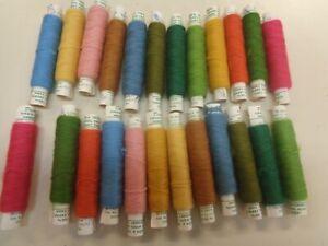 24 Dexters 100% Virgin Wool Crewel Embroidery Yarn 12 Colors  20 yd Skeins