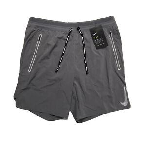 Nike Flex Swift Running Athletic Shorts Reflective Gray Men's Large AJ7767-056