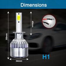 1x H1 6500K 1200W 198000LM Headlight LED Conversion Kit High Beam Bright Light
