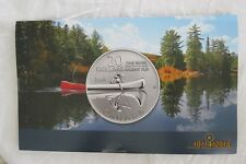 ROYAL CANADIAN MINT 2011 $20 SILVER CANOE COMMEMORATIVE COIN