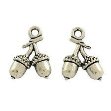 10 x Tibetan Silver 3d Acorn Charms  Pendant Wicca