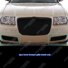 2005-2010 Chrysler 300 Stainless Steel Bumper Black Mesh Grille Grill Insert