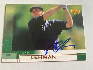 Tom Lehman Signed 2002 Upperdeck Golf Card # 11