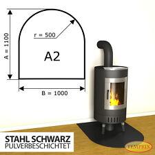 Kaminbodenplatte Funkenschutz ✔ Ofenplatte Kaminofenplatte ✔ Stahl Schwarz A2 ✔