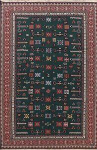 Geometric Sumak Kilim Tribal Hand-woven Area Rug Wool Living Room Oriental 9x12