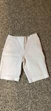 Womens Liz Claiborne New York Stretch Long Shorts Size 4 White