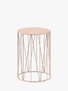 John Lewis & Partners St Lucia Garden Round Side Table, Dusty Green, Plaster