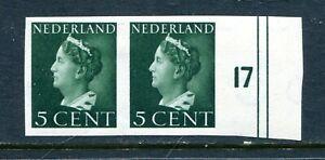 Nederland, nvph 332v, paartje + randstuk, ongestempeld : opruiming, sale