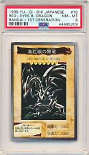 Yugioh PSA 8 - Red-Eyes B. Dragon - 1998 BANDAI 1ND Generation #10 Japanese