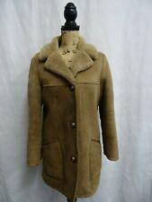 Women's County Coats Brown Sheepskin Shearling Coat Size 10