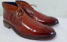 Cole Haan Burnished Tan Patina Leather Chukka Boots sz 10.5 M MENS