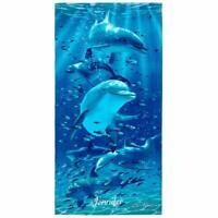 "Kaufman Sales - Personalized Twister Dolphins Beach Towel. 30"" x 60"" (106062)"