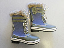 """Bearpaw """"Rossland"""" blue suede and green leather winter boots.Women's 6"""