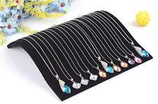 1X Velvet Necklace Chain Pendant Show Display Jewellery  Organizer Stand Holder