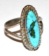 Naive American Clarence Bailon Solid 925 Sterling Silver Turquoise Ring! Size 7!