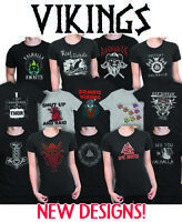 Mens Ladies Viking Multi T-Shirt Norse Seafarers Valhalla Vikings Boat Nordic