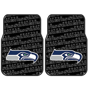 Seattle Seahawks Rubber Front Floor Mats Universal Fit Northwest License