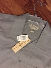 NWT Crossings Men's Casual Shirt XXLarge Cotton Gray Short Sleeve Sug. Price$38.