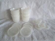 Tupperware Jello / Mousse / Jellette Molds.  Set of 6 w/lids.  18 Pieces Total.