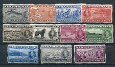 Newfoundland 1937 Coronation extra set of 11 SG257/67 mounted mint